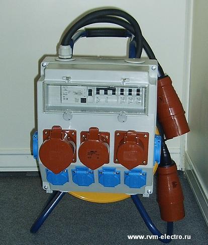 Удлинитель с блоком защиты и распределения (щиток 380В/220В) - комплектация ABL Sursum