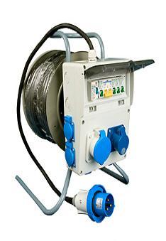 Удлинитель на катушке с распределительным блоком РВМ Электро 220В/32А - щиток 4-18-1074