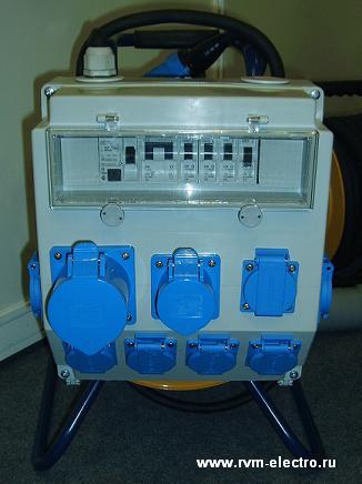 Удлинитель на катушке с распределительным блоком РВМ Электро 220В/32А - щиток, комплектация ABL Sursum