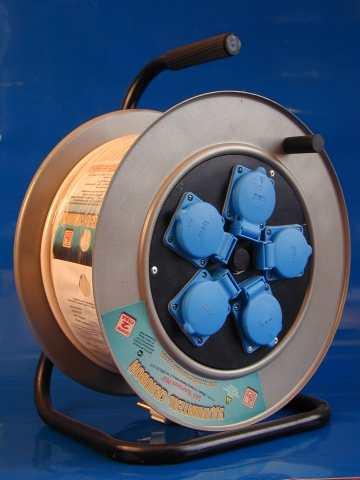 Удлинитель на катушке с защитой 5 розеток РВМ Электромаркет
