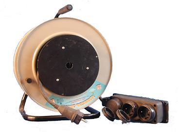 Удлинитель на катушке 3 розетки на каучуковой колодке РВМ Электро
