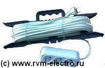 Удлинитель на рамке 3 розетки РВМ Электромаркет