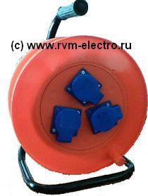 Удлинитель на катушке с брызгозащитными розетками РВМ Электромаркет