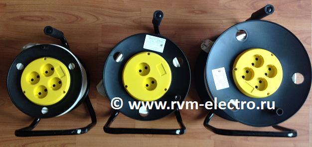 Удлинители на пластиковых барабанах РВМ Электромаркет