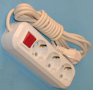 Удлинитель 3 розетки с переключателем РВМ Электромаркет бытовой