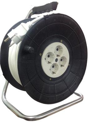 Удлинитель на пластиковой катушке 4 розетки РВМ Электро