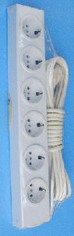 Удлинитель РВМ Электромаркет 6 розеток с заземлением 3500 Вт 16 А