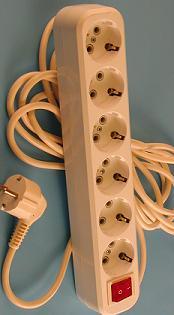 Удлинитель РВМ Электромаркет 6 розеток с выключателем 16А 3500 Вт