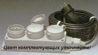 Удлинитель электрический силовой 3 розетки РВМ Электро